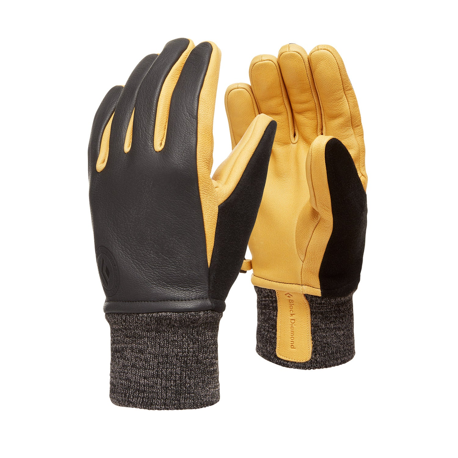 black diamond dirt bag gloves in black
