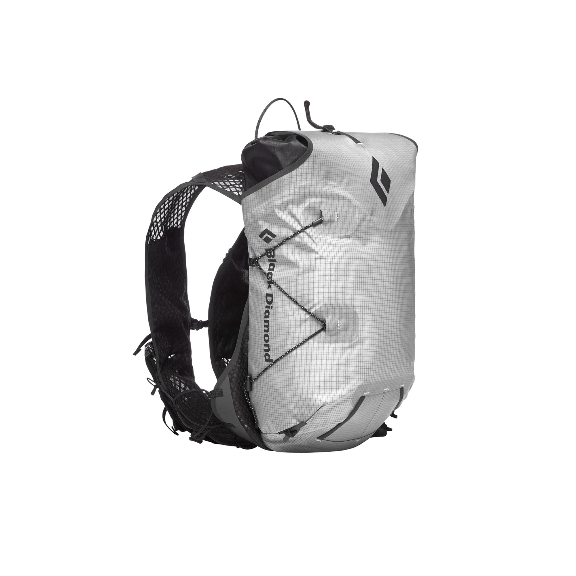 black diamond distance 15 pack in alloy, front view