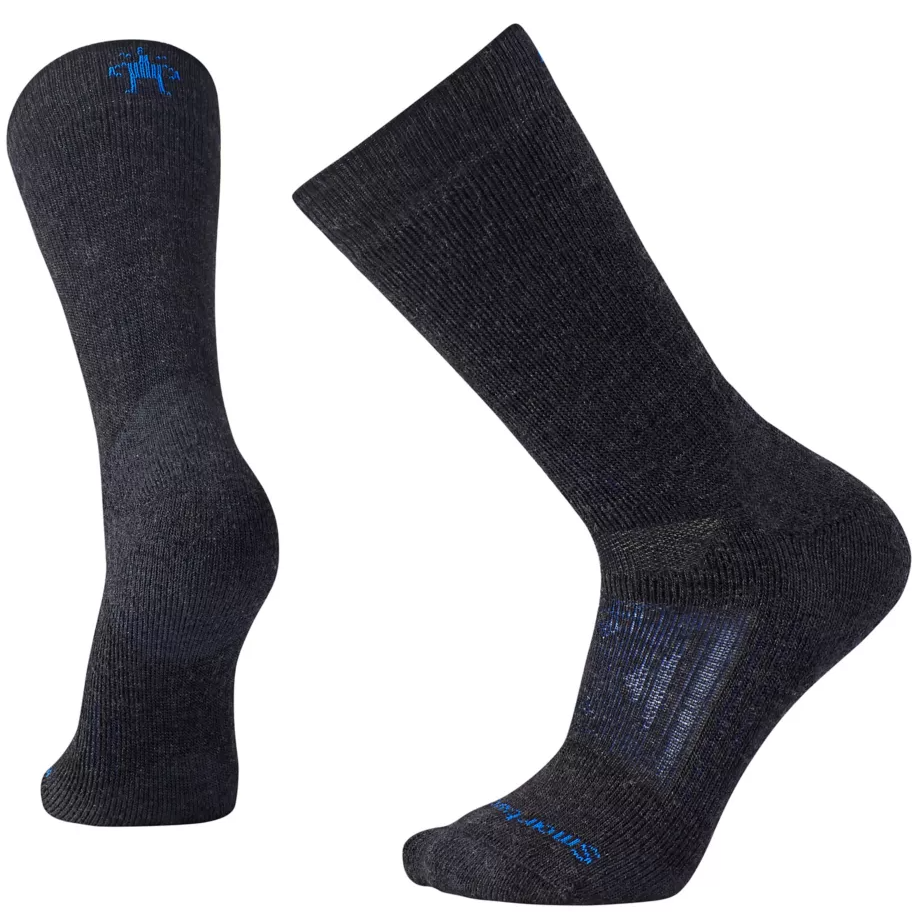 men's heavy crew sock in charcoal