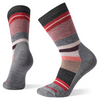 the women's hike medium saturnshpere crew sock in light gray with a lot of reds
