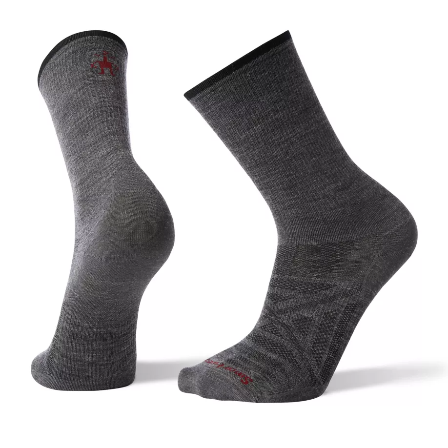 Men's PhD® Outdoor Ultra Light Crew Hiking Socks in medium gray