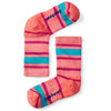 coral kid's striped light hiking crew socks