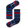 deep navy kid's striped light hiking crew sock