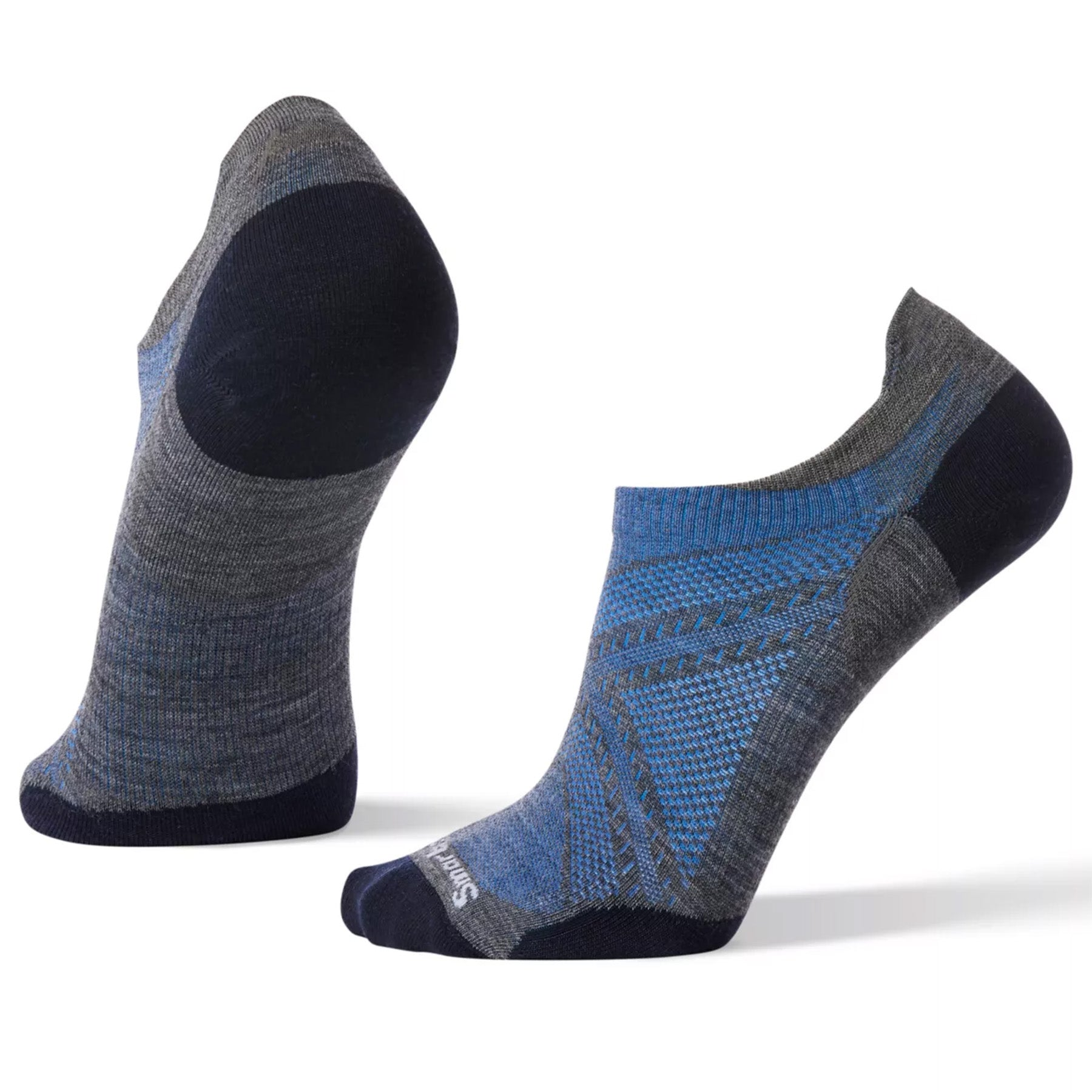 the medium gray men's phd run ultra light micro socks