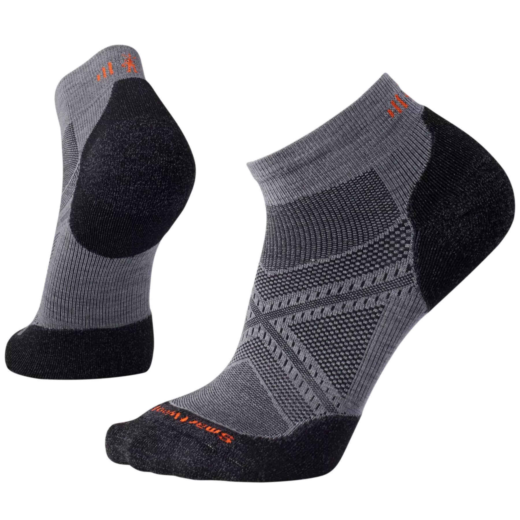 a pair of the light low men's phd run socks in graphite