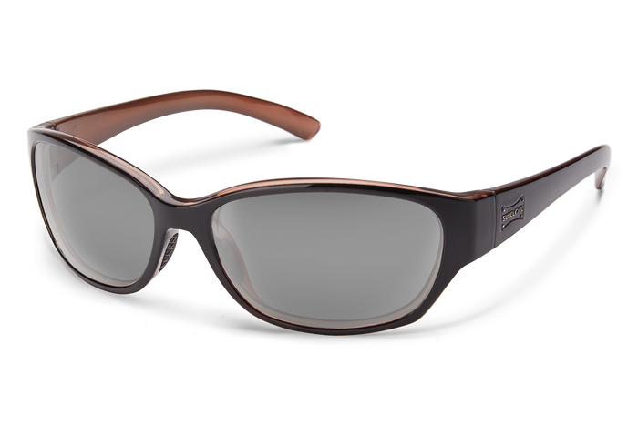 suncloud duet sunglasses in black backpaint with polarized gray lenses