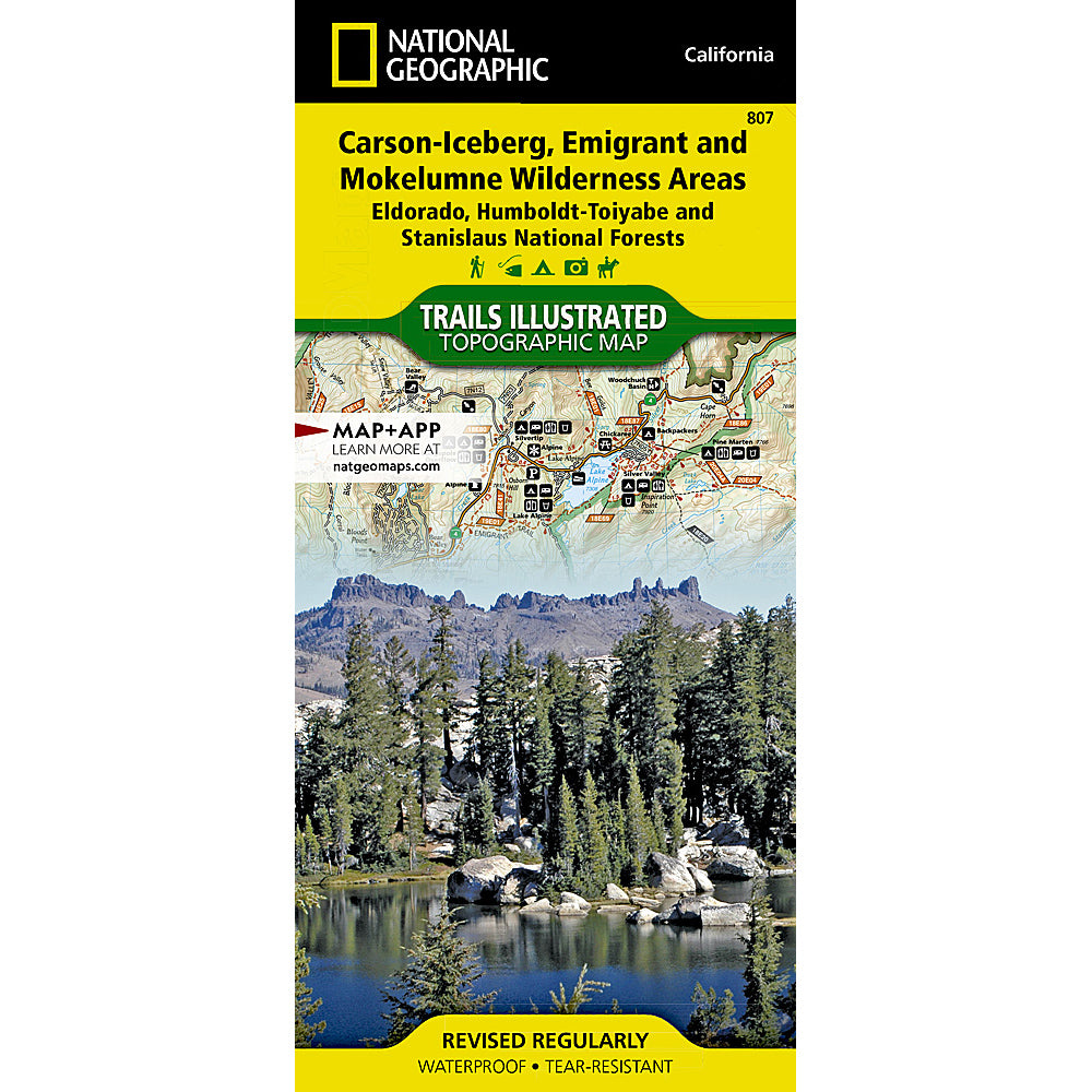 national geographic maps carson-iceberg, emigrant and mokelumne wilderness areas