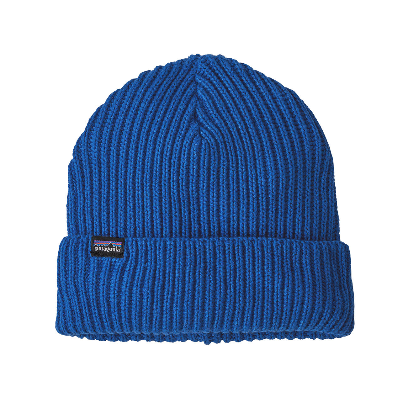 fisherman's rolled beanie in alpine blue