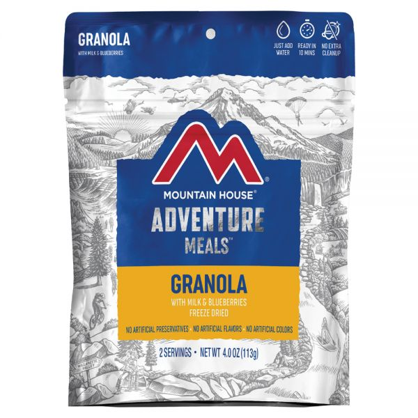 a packet of freeze dried granola