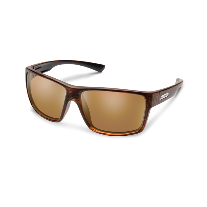 suncloud hawthorne sunglasses in burnished brown with polarized brown lenses