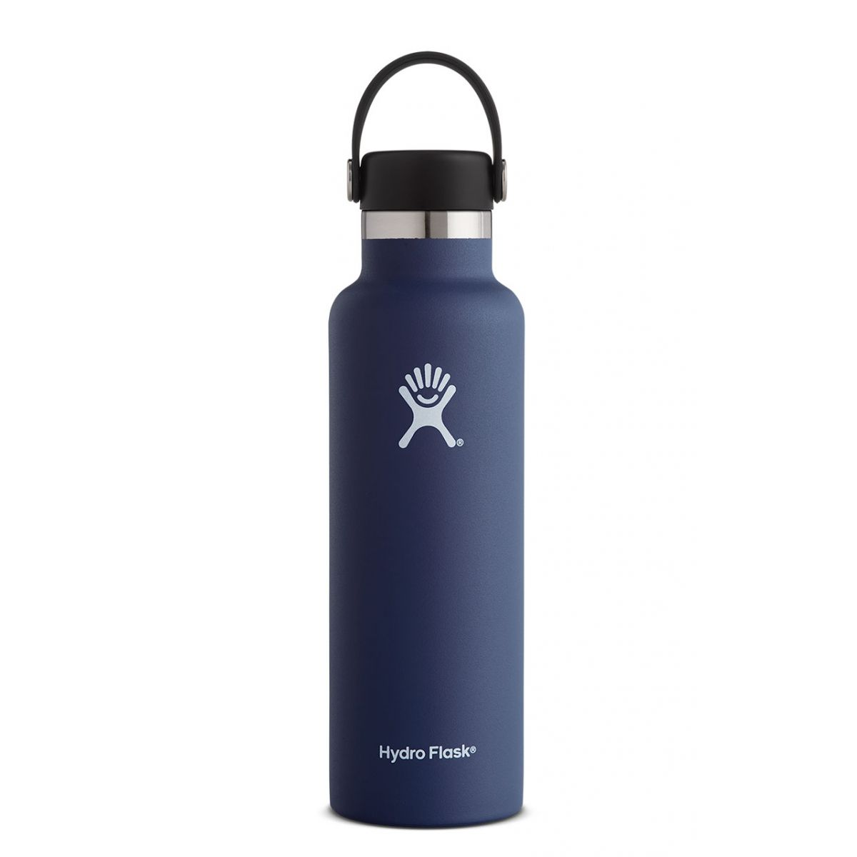 hydroflask stainless steel water bottle 21 oz in cobalt