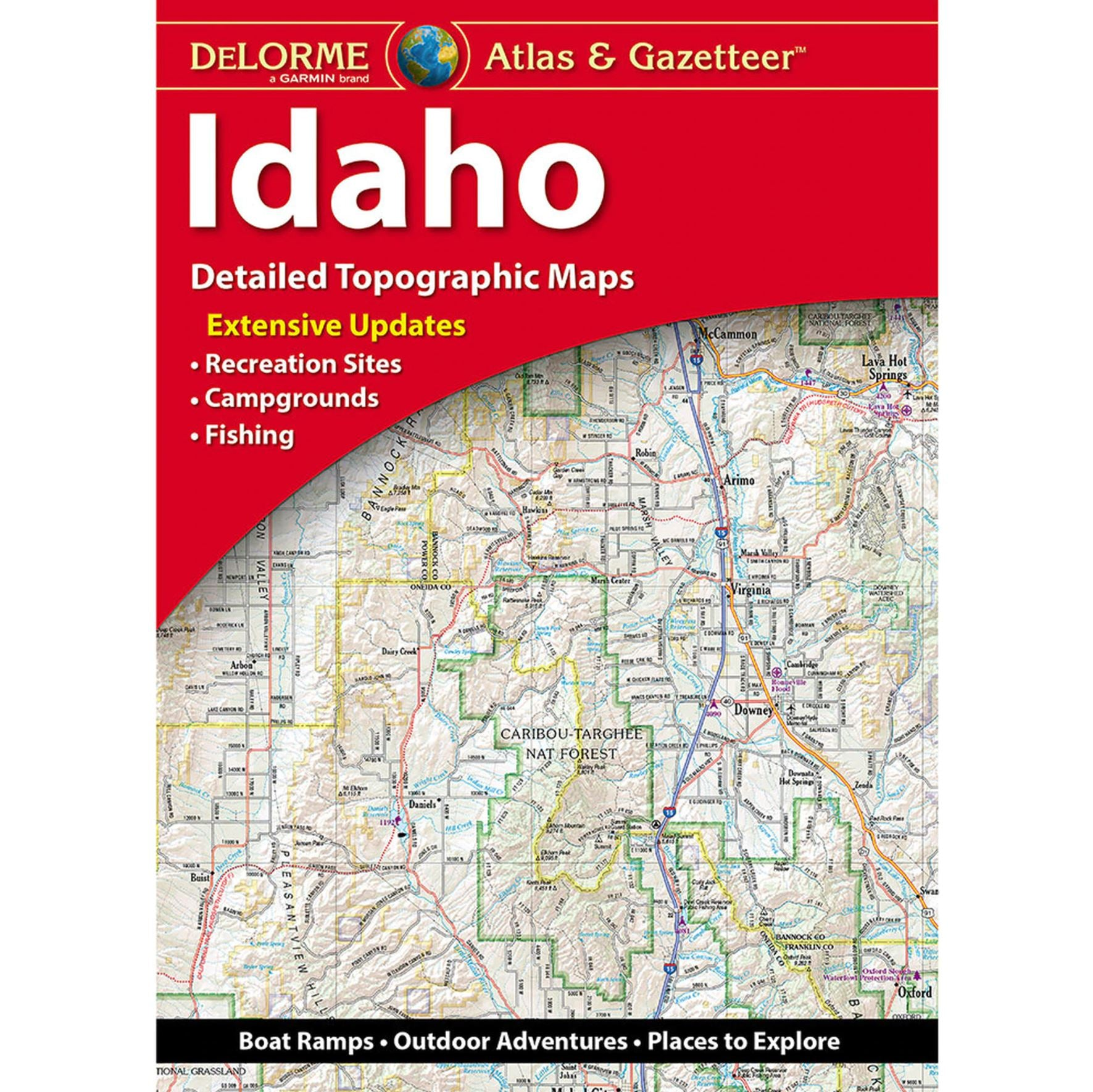the cover of the idaho delorme road atlas