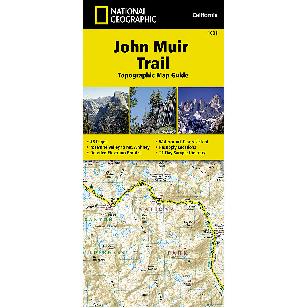 national geographic maps john muir trail