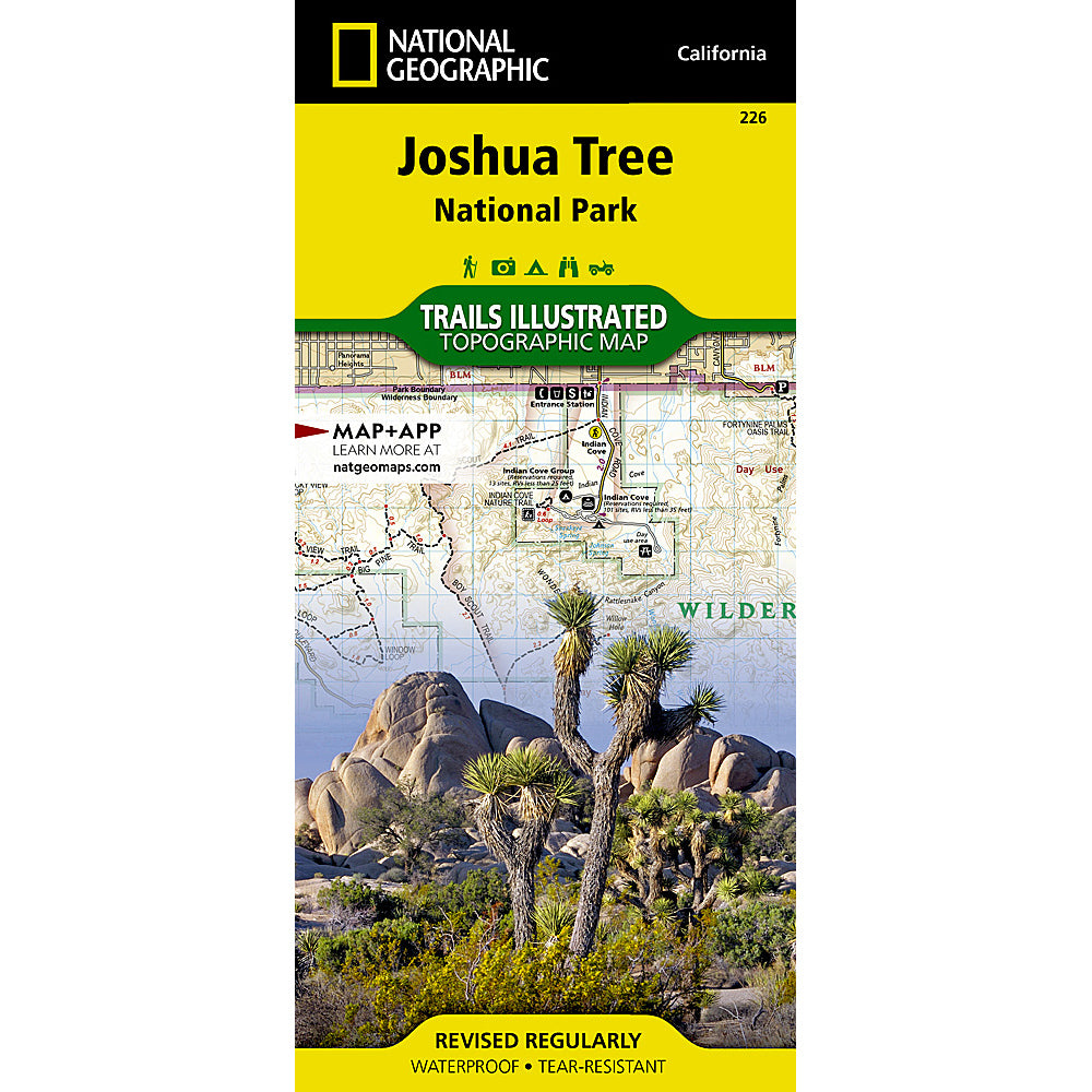 national geographic maps joshua tree