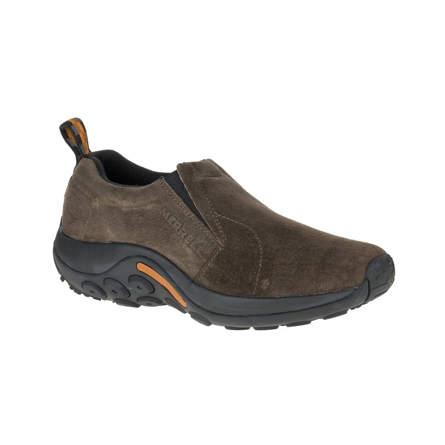 merrell jungle moc slip on shoe mens side view in brown