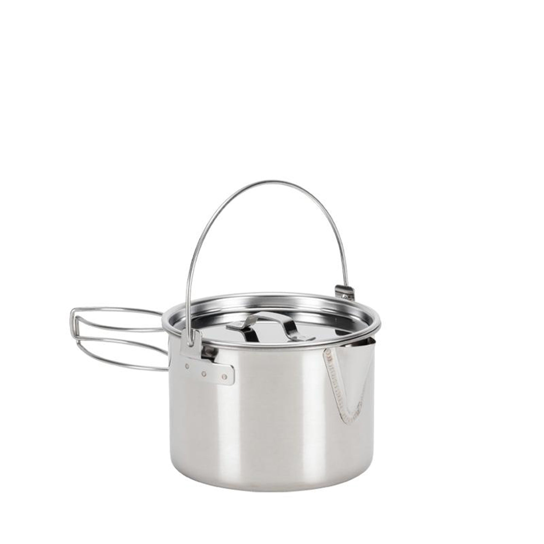 the kettle cooker with lid on