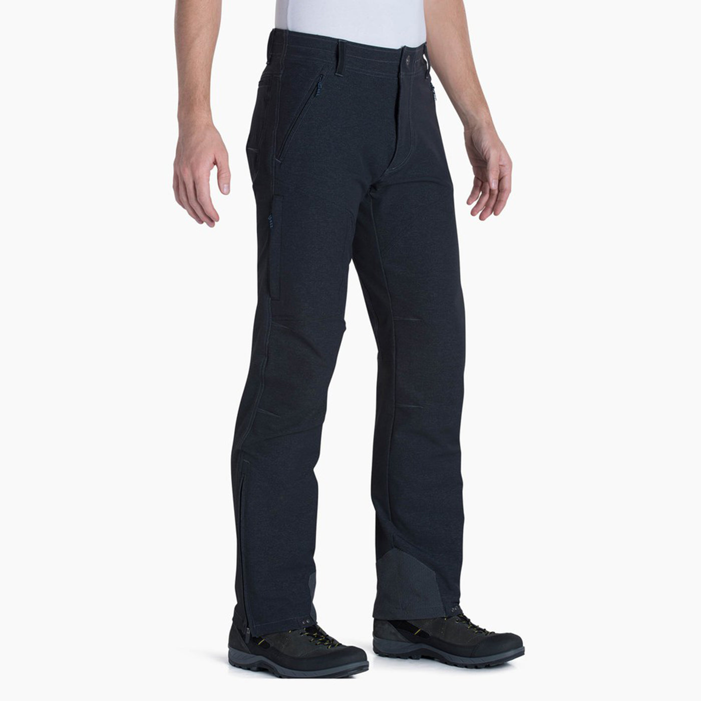 kuhl klash pant mens on model front view in color dark grey