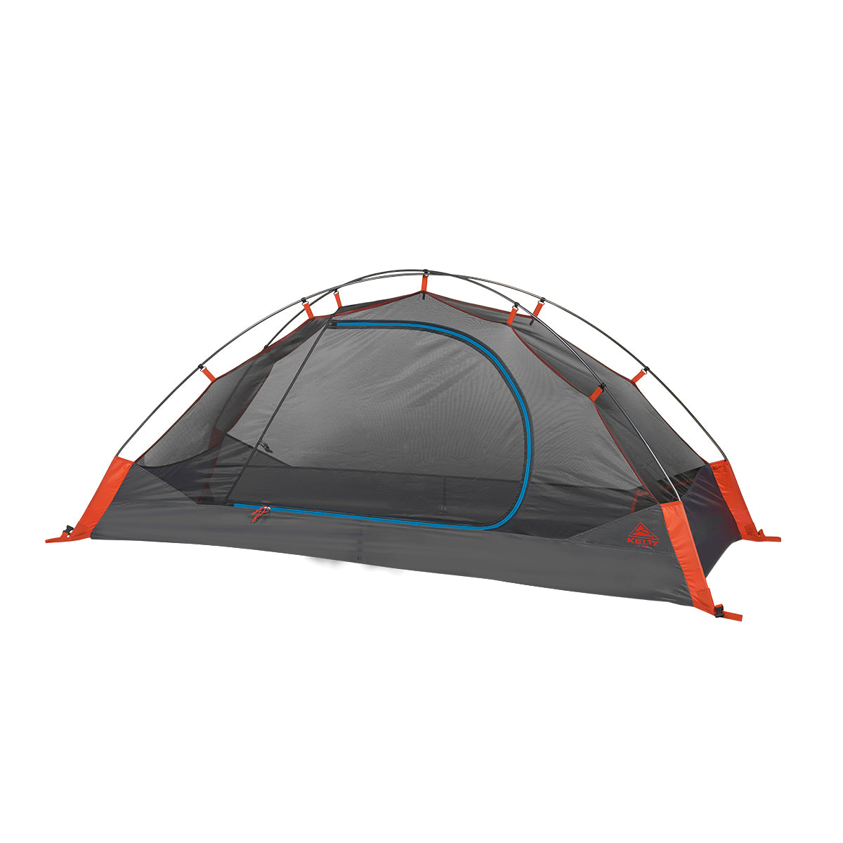 kelty late start 1 person tent without fly in color grey with orange and blue details