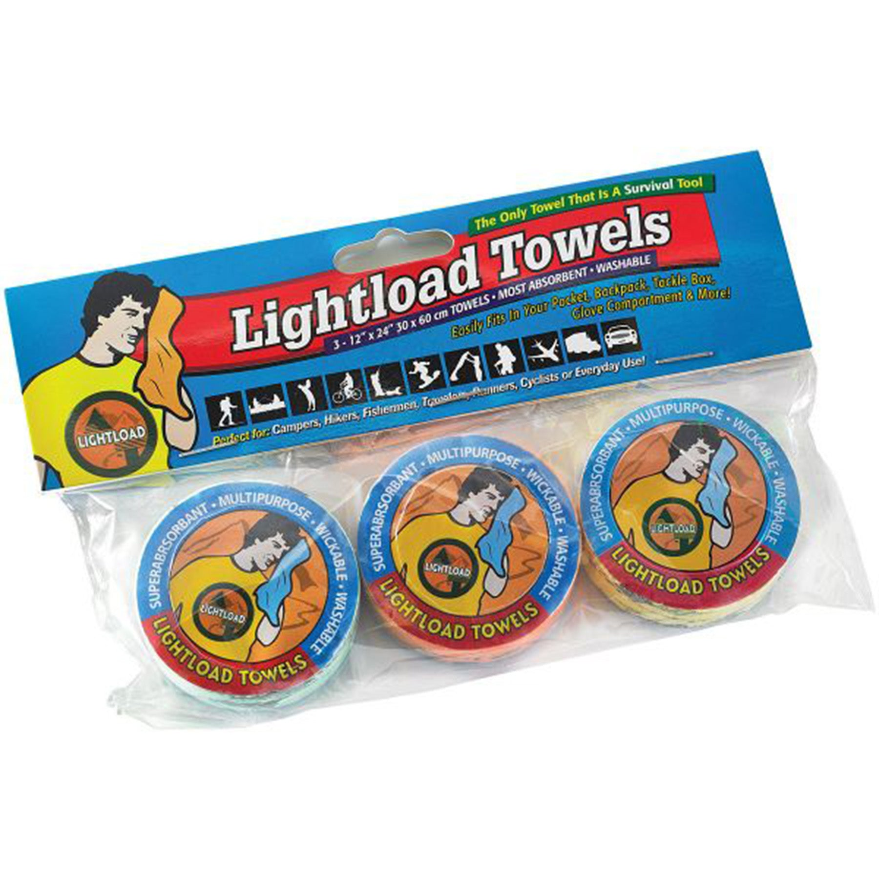 a three pack of lightload towels
