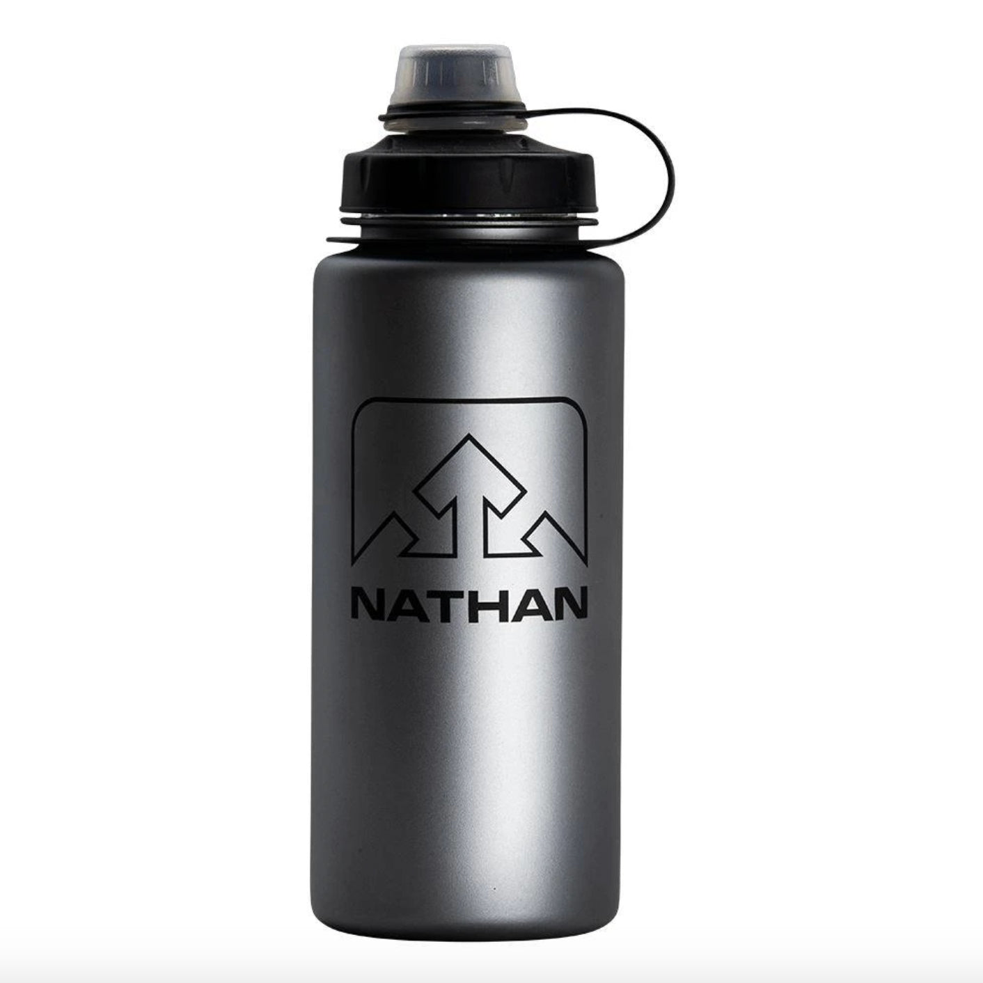 nathan littleshot 250 mL bottle in charcoal black