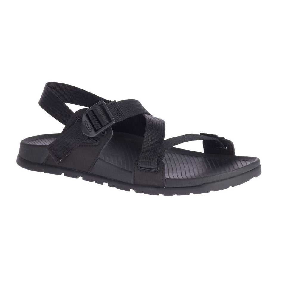 chacos lowdown sandals womens in black three quarter view