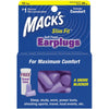 a box with a window showing mack's slim earplugs in light purple