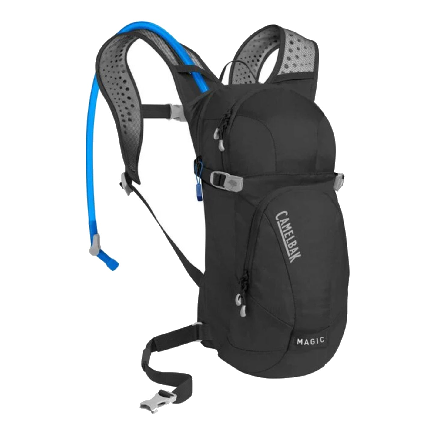 magic women's hydration pack black front view
