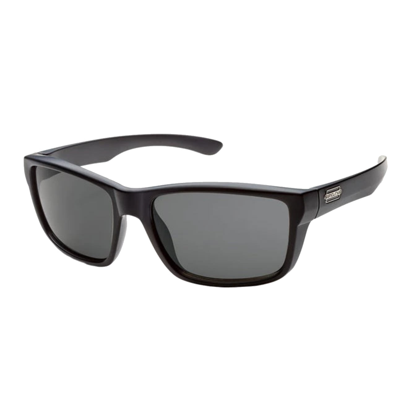 suncloud mayor in black with gray polarized lenses
