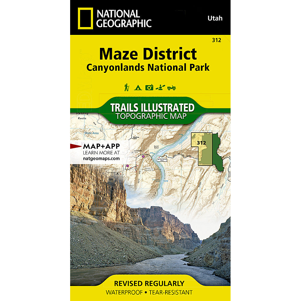 national geographic maps maze district canyonlands