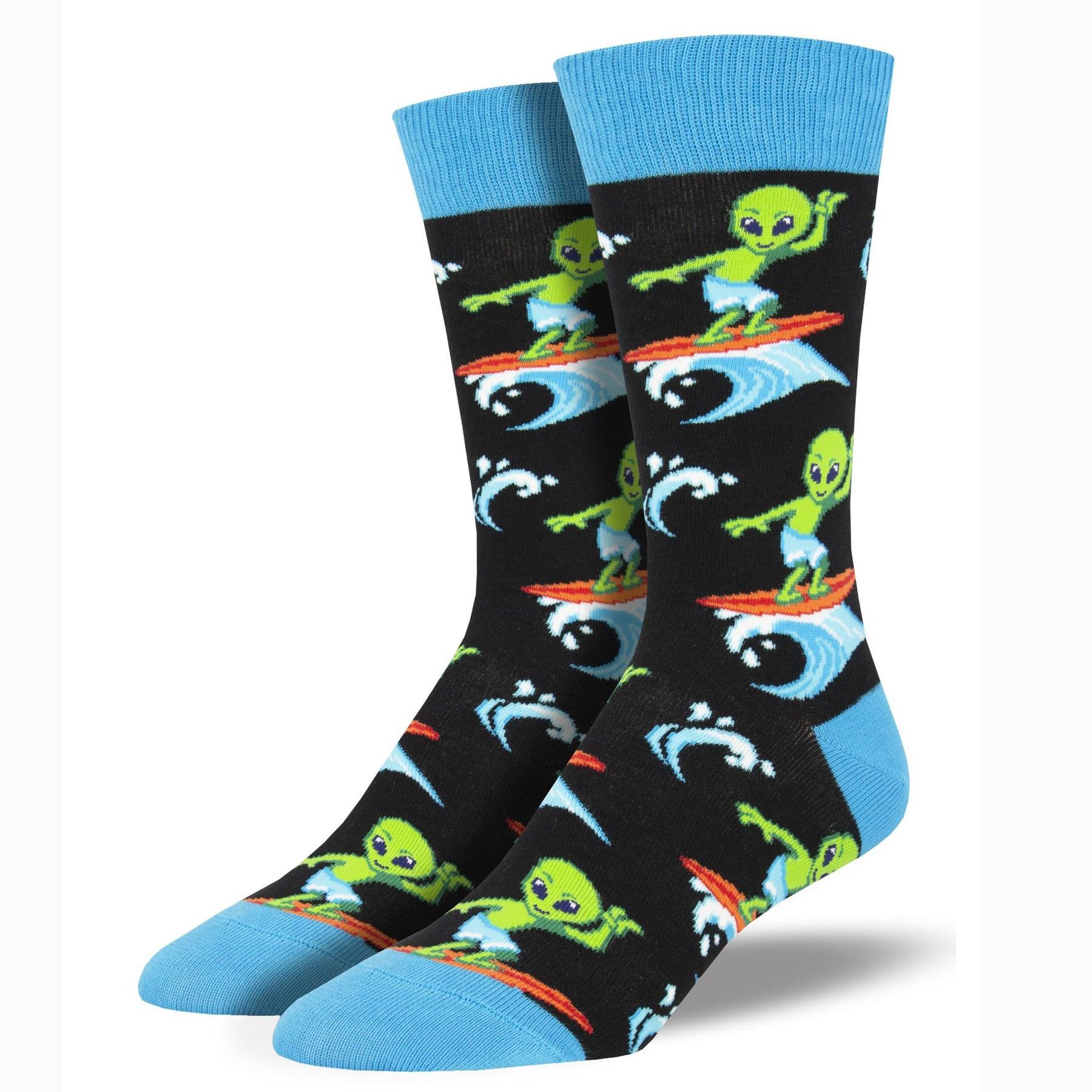 Socksmith Men's Surfing the Galaxy Casual Sock