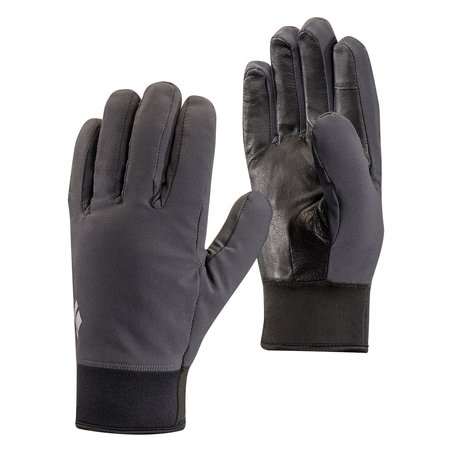 a pair of midweight softshell gloves