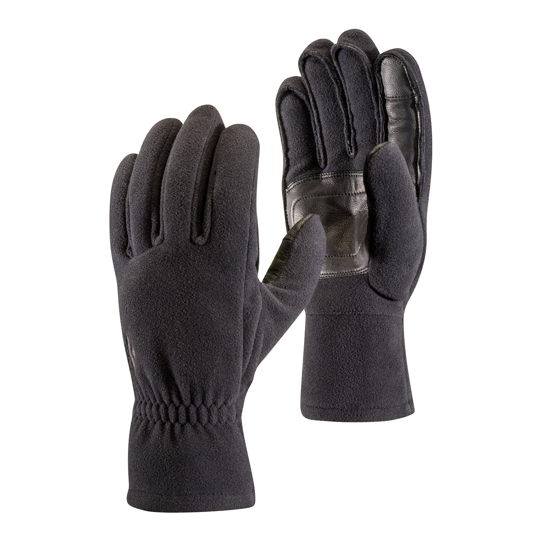 a pair of windproof fleece gloves