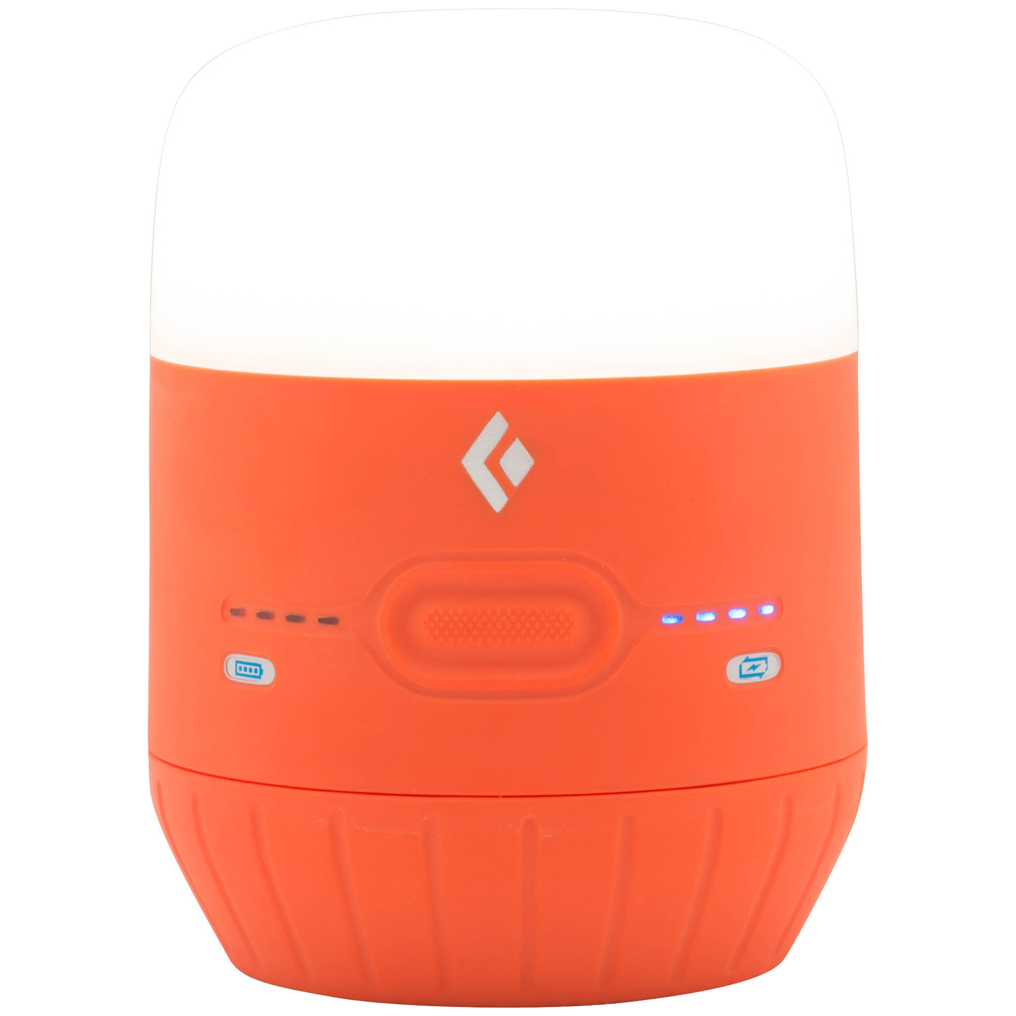 orange lantern in off mode showing battery levels