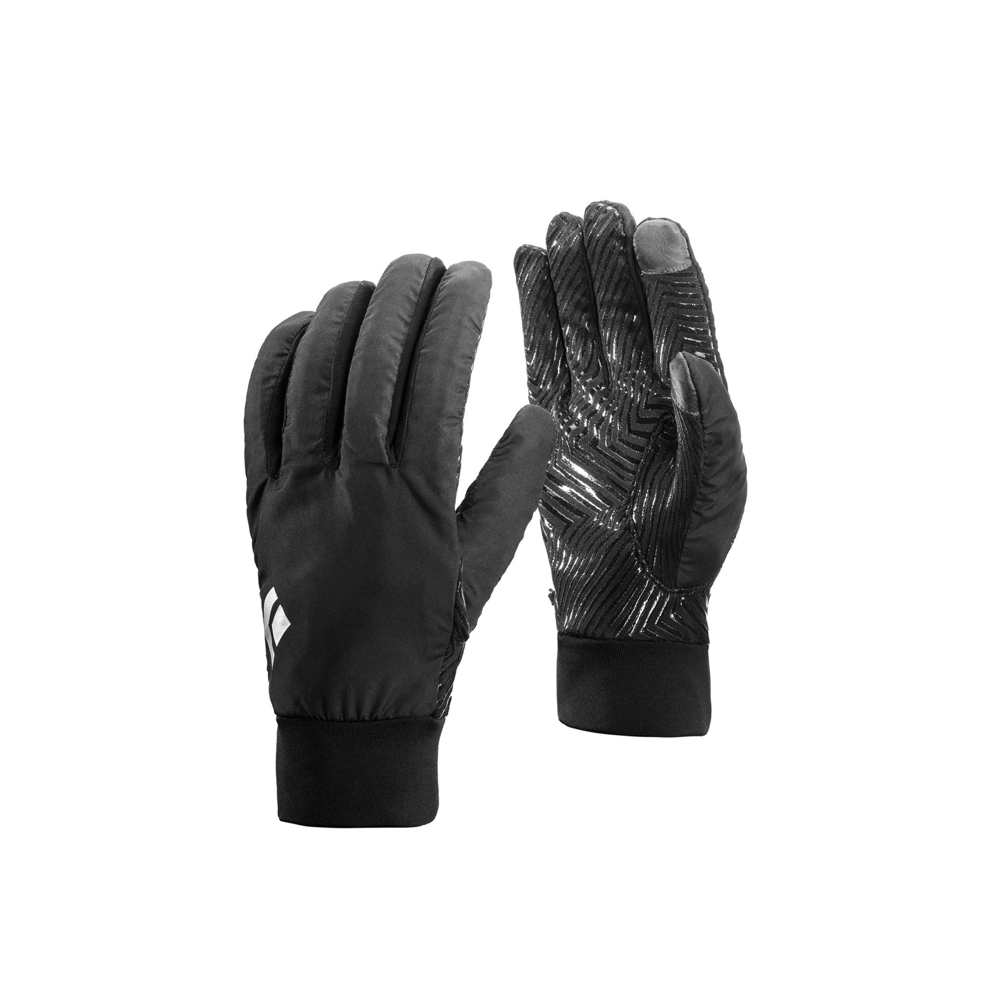 a pair of warm, black gloves