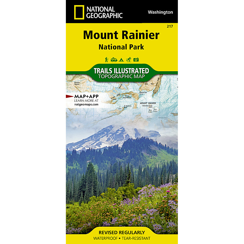 national geographic maps mount rainier