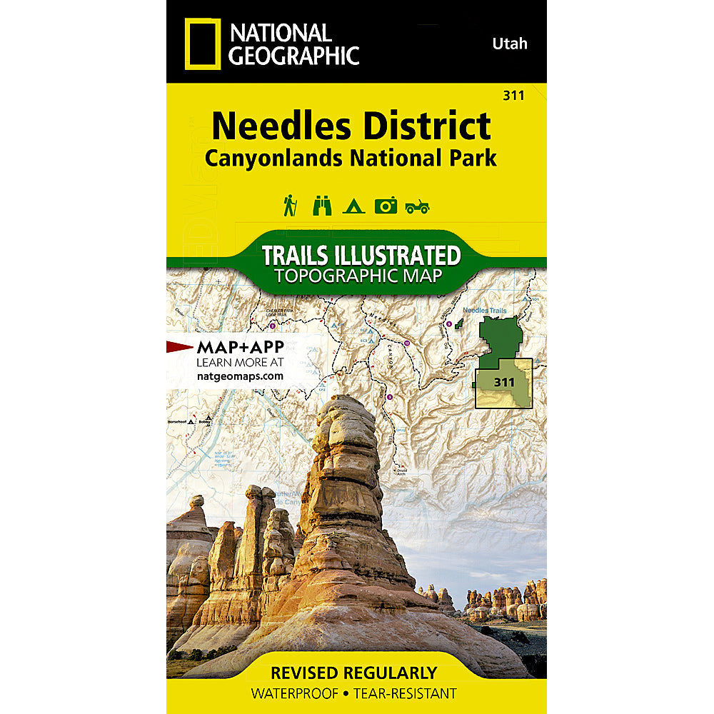 national geographic maps needles district canyonlands national park