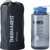 neo air xtherm max stuffed and next to a 1 quart water bottle, about the same size