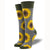bright yellow sunflowers brighten these calf height socks