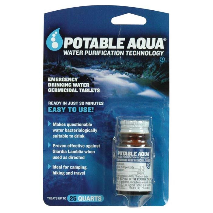 potable aqua iodine tablets