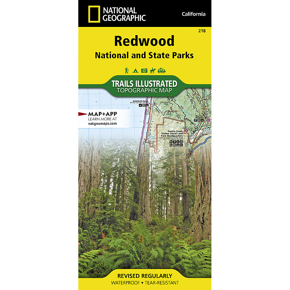 national geographic maps redwood national and state parks