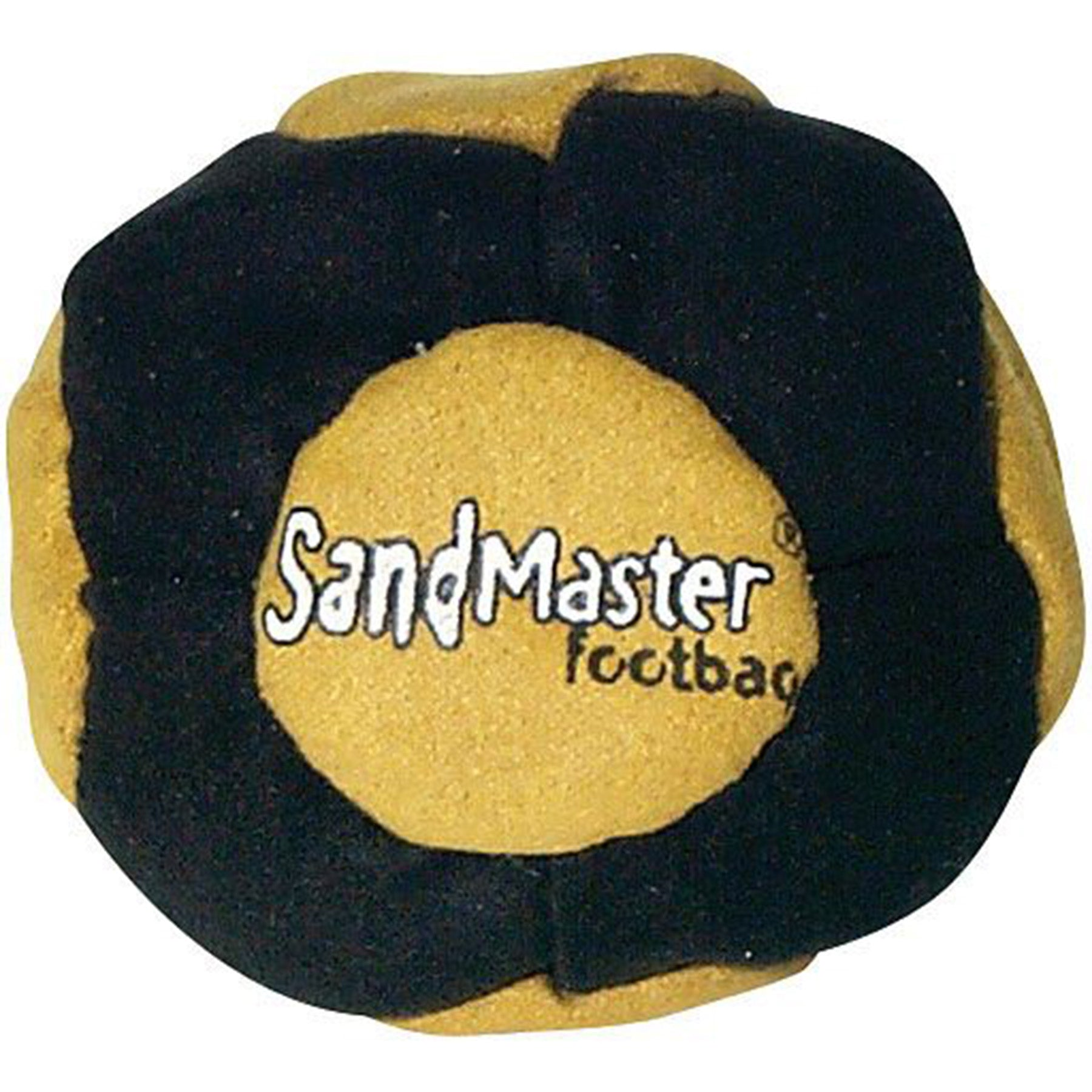 sandmaster 14-panel synthetic suede footbag (hacky sack)