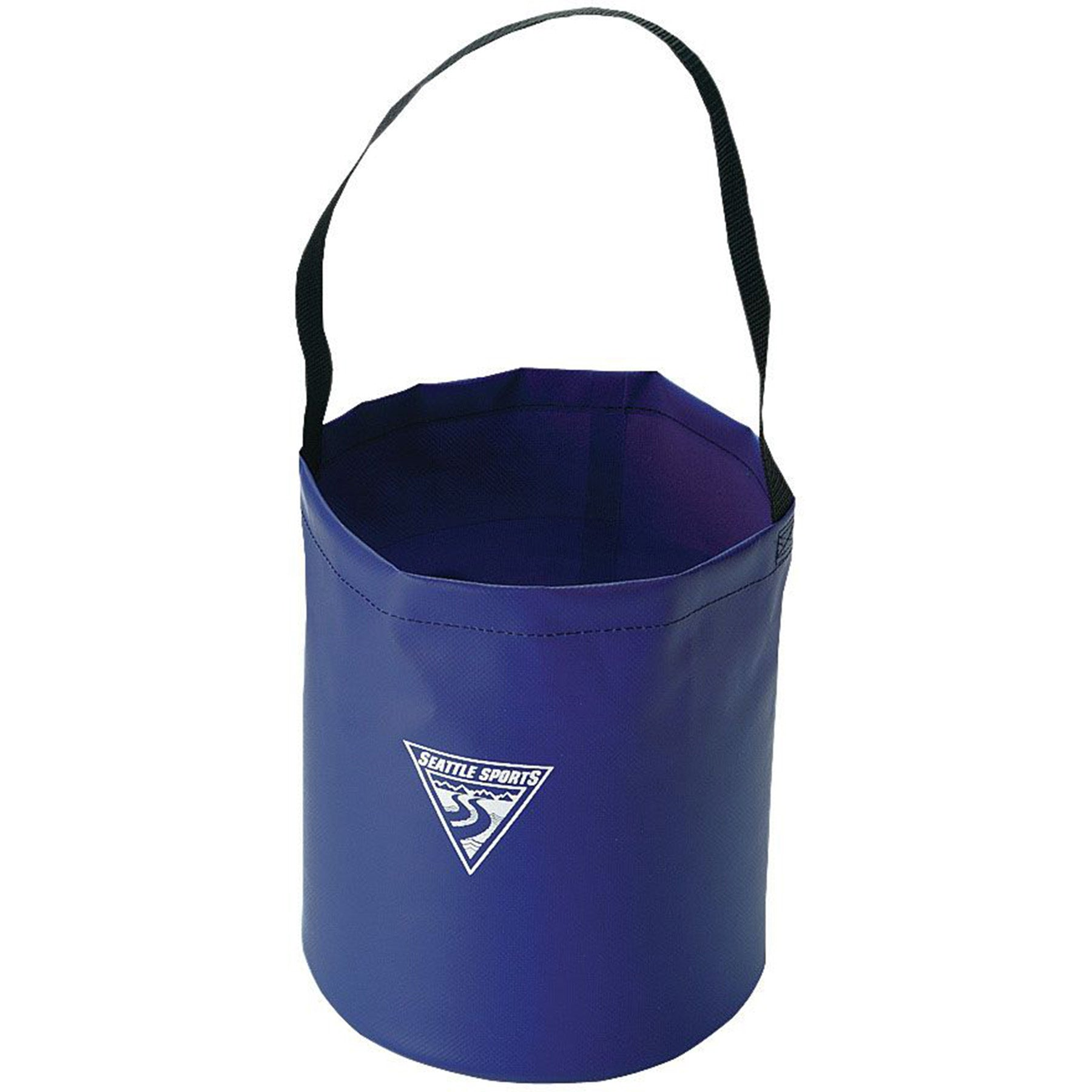 the camp bucket shown standing up as if full of water