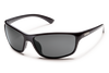 suncloud sentry sunglasses in black with polarized gray lenses
