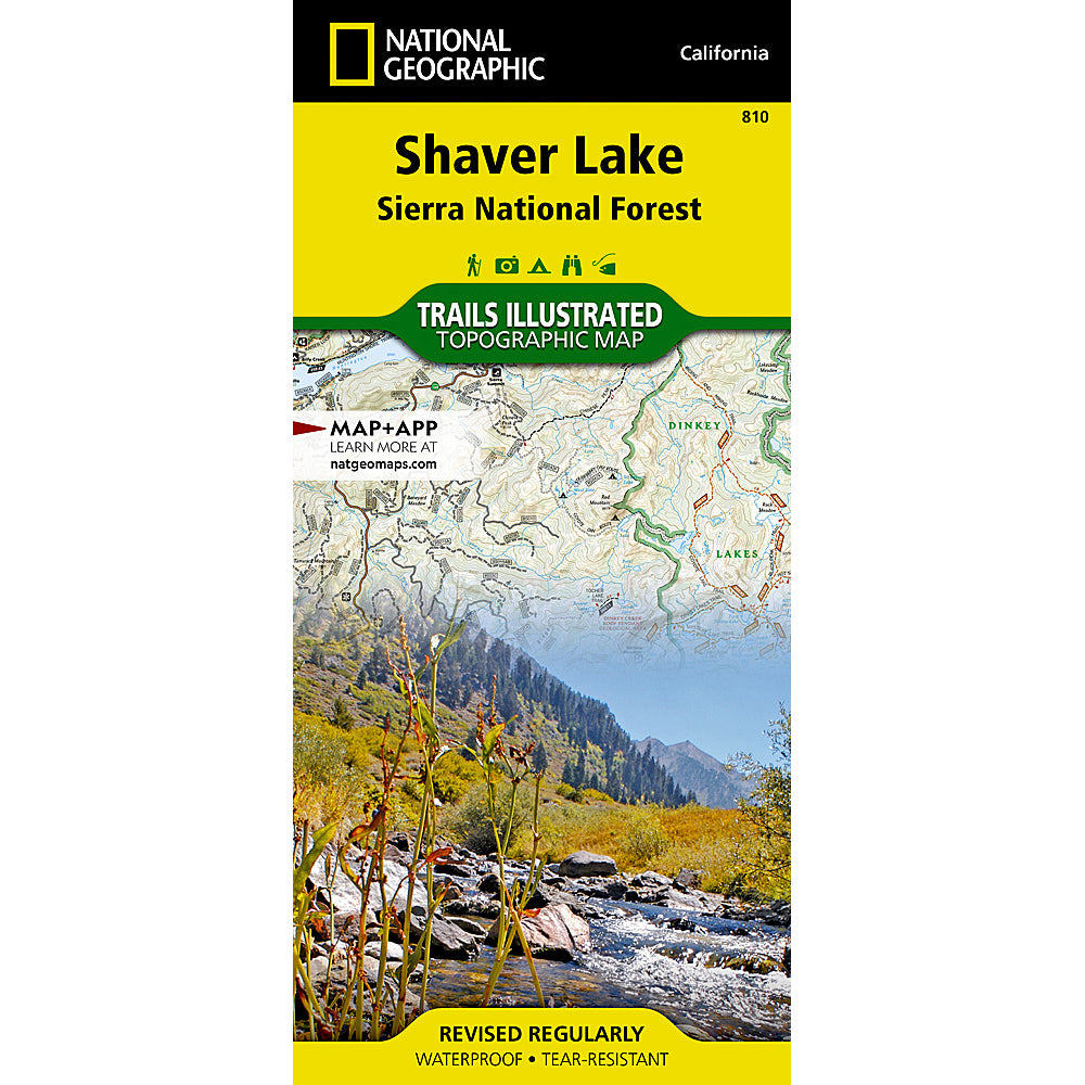 national geographic maps shaver lake