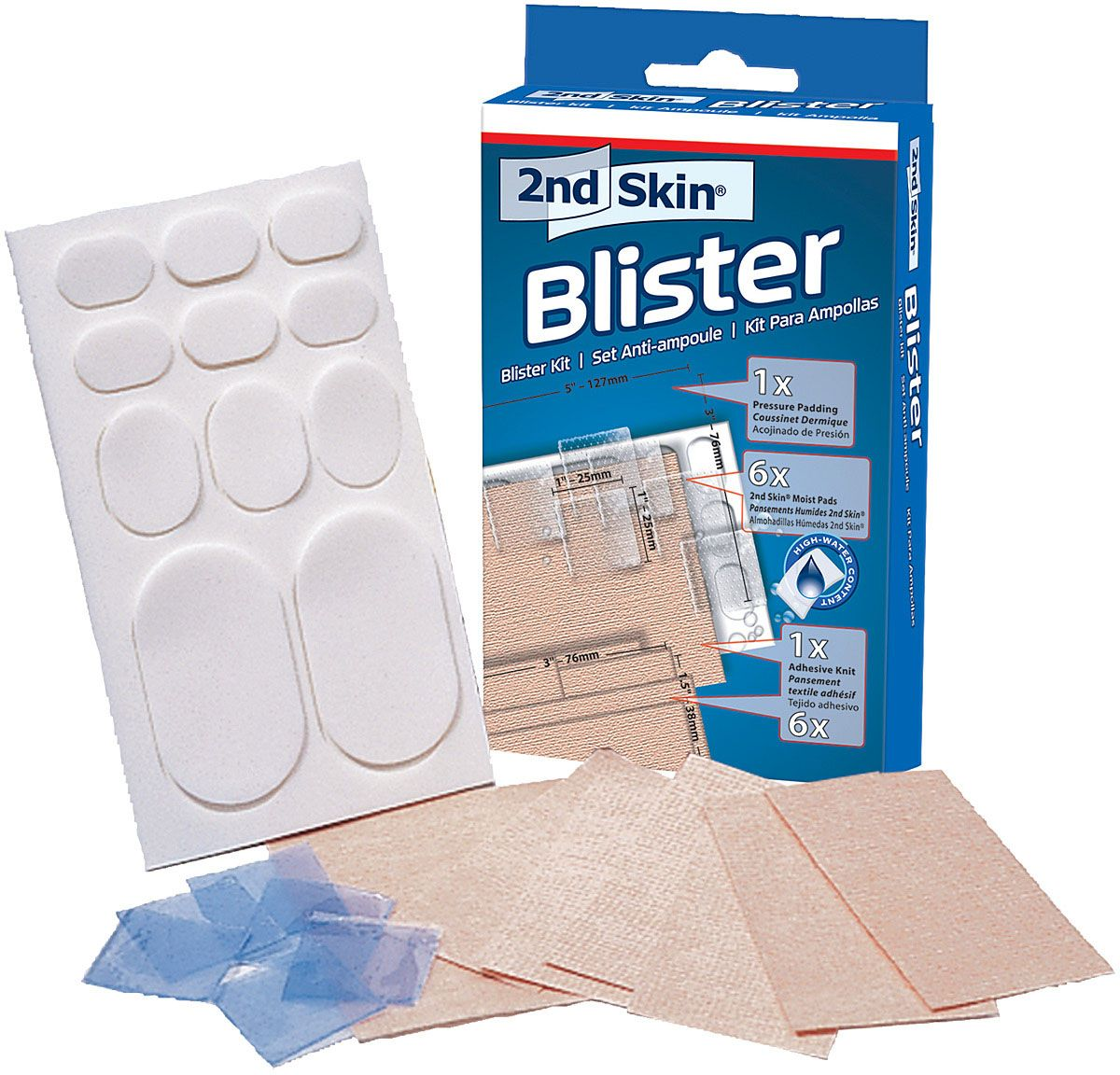 spenco 2nd skin blister kit for protection against friction, pressure and blisters.