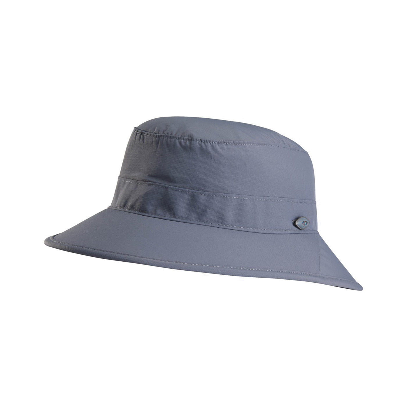 kuhl sunblade sun hat three quarter view in color grey blue