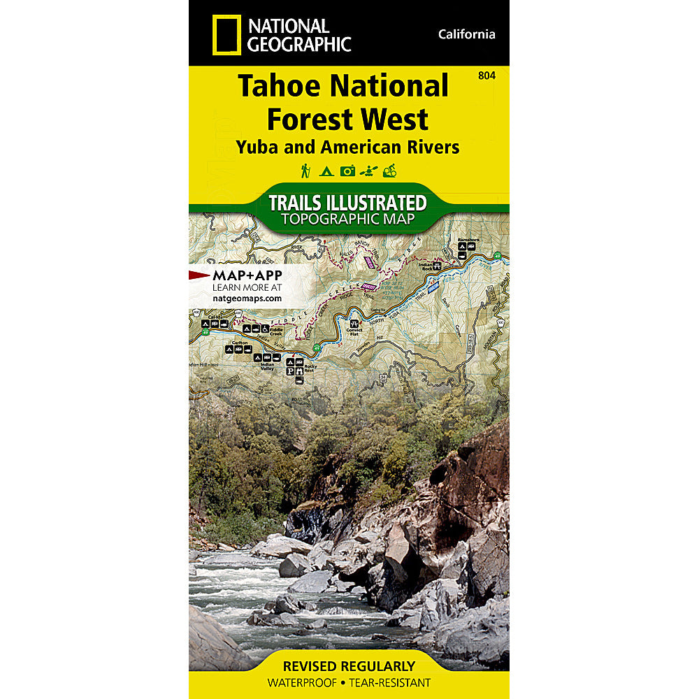 national geographic maps tahoe national forest west