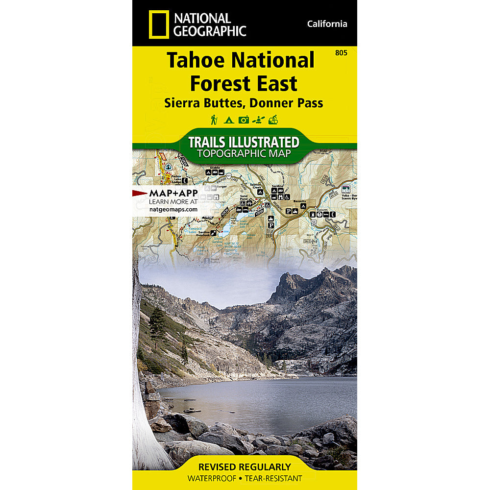 national geographic maps tahoe national forest east