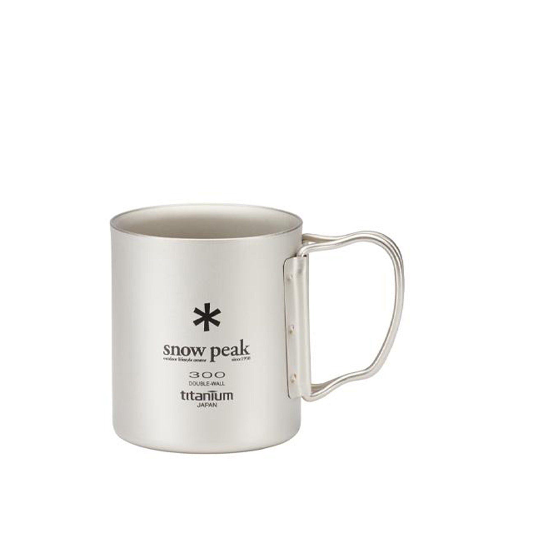 mug with handles out and logo facing us