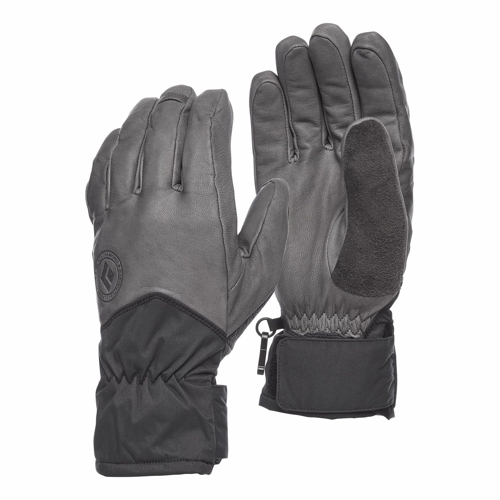 Black diamond tour gloves in ash
